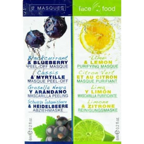 Μάσκα προσώπου με Μύρτιλο και Λεμόνι 1+ 1 12 ml