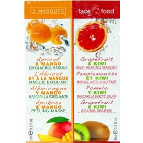Μάσκα προσώπου με Μάνγκο (mango) και Γρέιπφρουτ (grapefruit) 1+ 1 12 ml